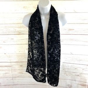 The J. Peterman Company velvet silk burnout scarf